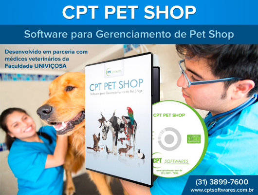 Software CPT Pet Shop - Software para Gerenciamento de pet Shop