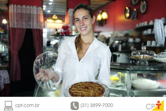 empresária administrando seu próprio bar