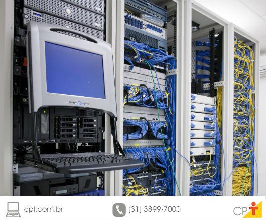 Sala de equipamentos de uma empresa