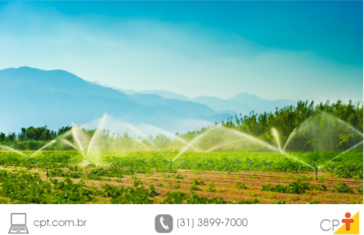 Aplicação de defensivo agrícola via irrigação