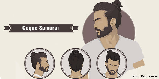 Visual Descontraído E Super Na Moda Coque Samurai Nos