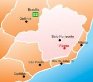Localização da cidade de Viçosa