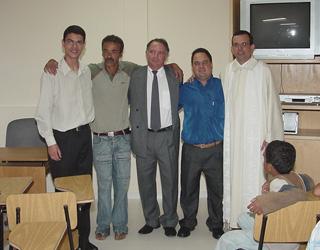 Na inauguração do Centro de Conhecimento Padre Mendes