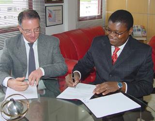 Prof. Nelson Maciel e Sr. Gabriel Machado