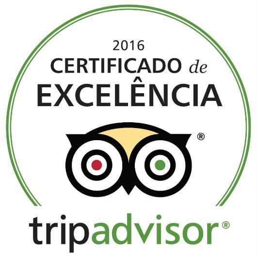 Alfa Hotel recebe Certificado de Excelência do TripAdvisor 2016