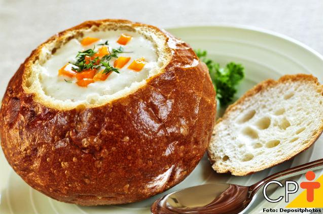 Creme de queijos no pão italiano   Artigos Cursos CPT