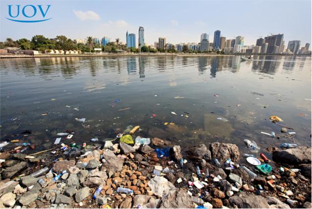 Água poluída