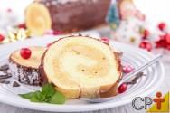 Rocambole de Sorvete e Crosta de Chocolate: aprenda fazer