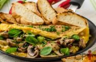 Omelete de alho poró e cogumelo shitake: aprenda fazer