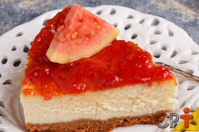 Cheesecake de Goiabada: aprenda fazer   Receitas Cursos CPT