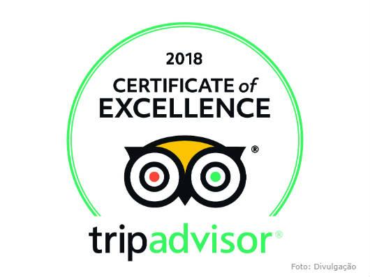 Alfa Hotel comemora, com mérito, o Certificado de Excelência do TripAdvisor 2018