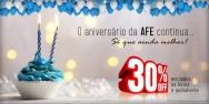 A promoção de 20 anos da AFE continua! Todos os livros e audiolivros com 30% off!