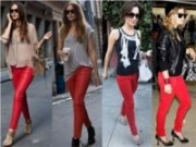 Calça vermelha é tendência no inverno!