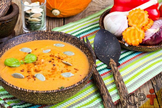 Sopa de Abóbora, Gengibre e Agrião: tudo a ver com uma noite fria!   Receitas Cursos CPT