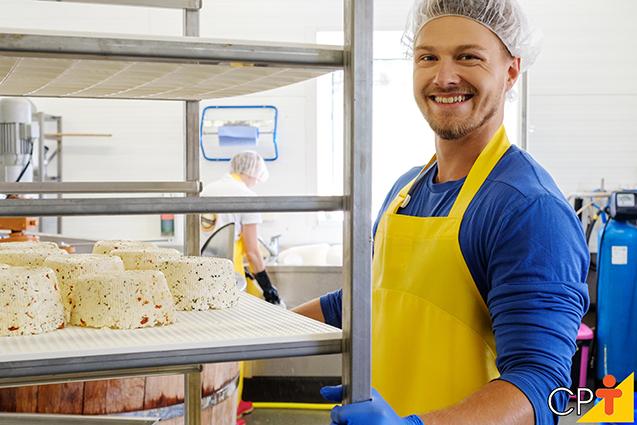 Produção de queijos