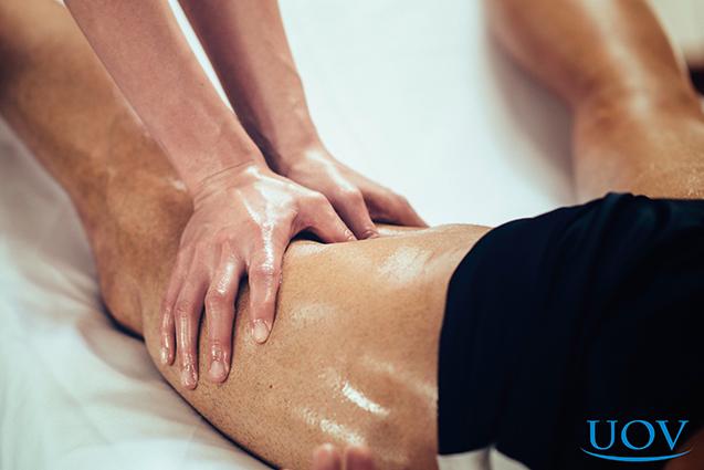 Massagem em atleta