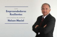 Livro - EMPREENDEDORES RESILIENTES - narra história do Professor Nelson Maciel