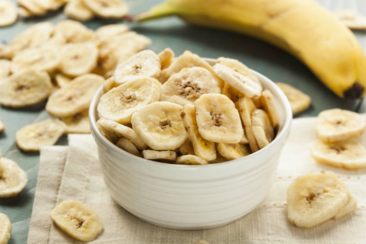 4 passos para desidratar bananas