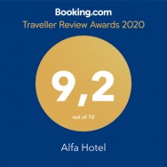 Alfa Hotel comemora prêmio Traveler Review, da Booking.com