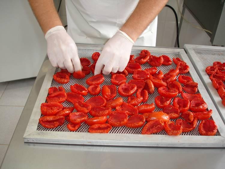 7 etapas do processamento de tomate seco