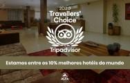 Mais uma vez, o Alfa Hotel no topo da lista da Trip Advisor: Travellers Choice 2020
