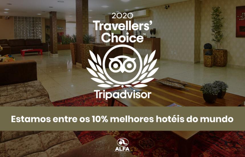 Mais uma vez, o Alfa Hotel no topo da lista da Trip Advisor: Travellers' Choice 2020
