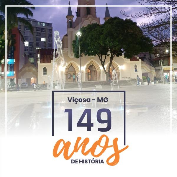 Viçosa comemorou, no dia 30/09, 149 anos de cultura, natureza, trabalho e ensino!