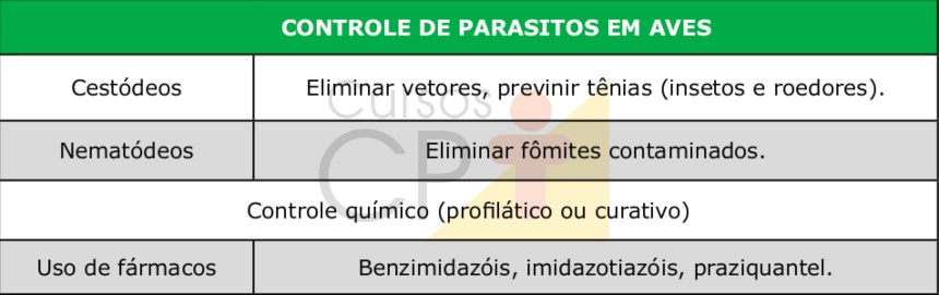 Controle dos parasitos em aves    Dicas CPt
