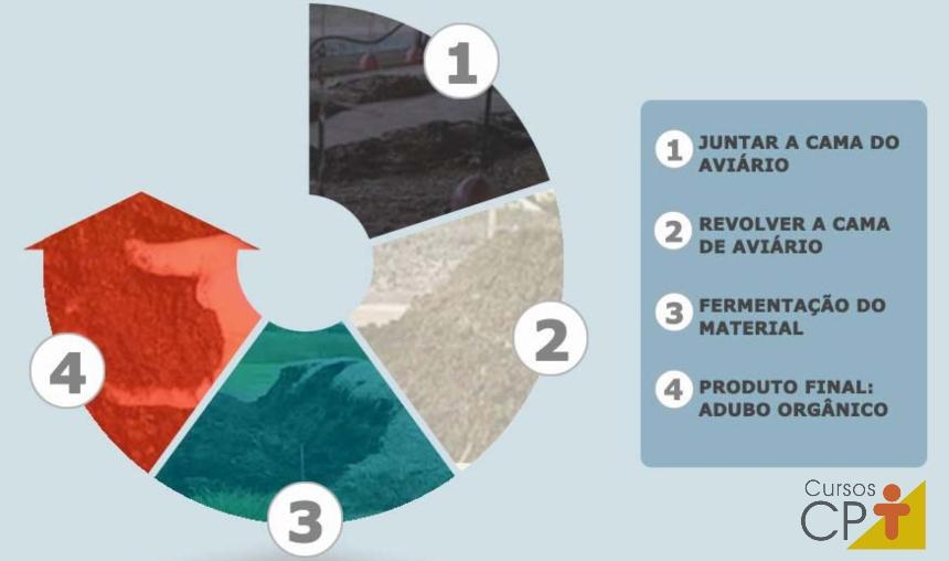 Representação gráfica do processo de compostagem de cama de aviário Artigos CPT