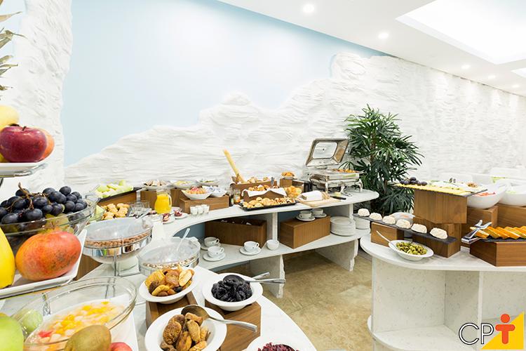 Café da manhã de hotel - imagem meramente ilustrativa