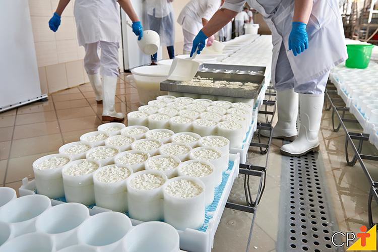 Produção de queijo - imagem ilustrativa