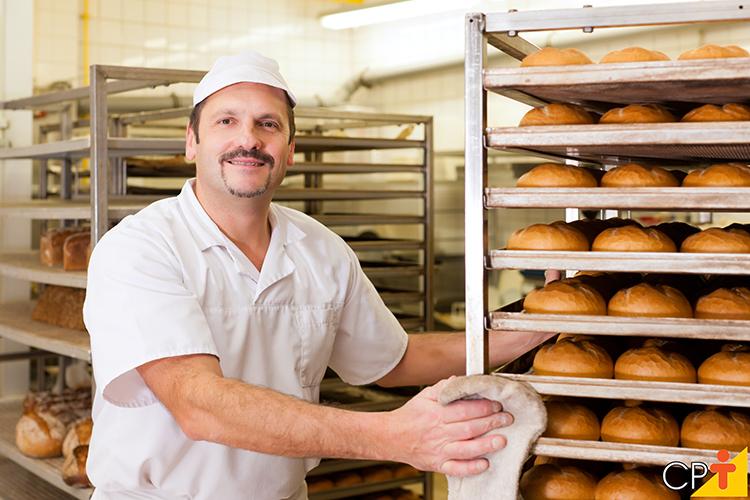 Fabricação de alimentos (pães) - imagem meramente ilustrativa