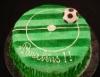 Bolo de aniversário com o tema futebol