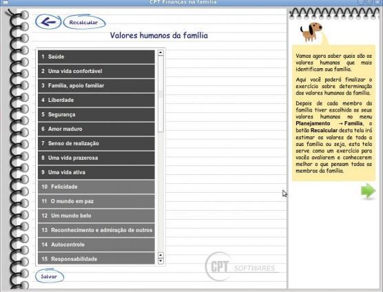 CPT Finanças na Família - Definição de Valores Humanos da Família
