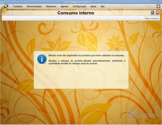 Registrar consumo interno dentro da empresa
