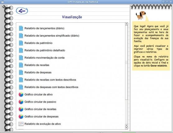 Módulo visulaização de relatórios
