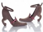 Sapato chama atenção por ser moderno e inusitado.