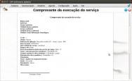 É possível imprimir o dados do comprovante da execução do serviço.