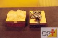Caixas artesanais para presentes: o molde