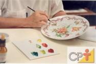 Pintura em porcelana: flores naturais