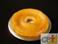 O pudim de tapioca é simples e pode ser servido em forma de sobremesa ou de lanche