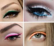Maquiagem colorida para o carnaval