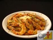 Receita de camarão ao gorgonzola