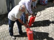 treinamento contra incêndio