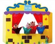 O fantoche tem um grande valor pedagógico e educativo e é uma ótima opção para ser utilizado em contações de histórias para crianças. Foto:reprodução