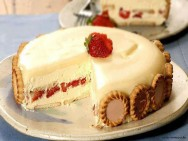 Doces Receitas - Torta Holandesa de Morangos e Chocolate