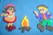 Artesanato em EVA - Decoração de Festa Junina