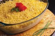 Culinária - receita de Creme de Frango na Palha