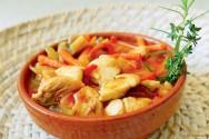 Culinária - receita de Frango de Caçarola com Salsão e Erva Doce