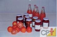 Processamento de Tomate: receita de massa de tomate